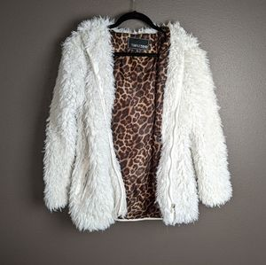 Triple Star S white faux fur hooded jacket